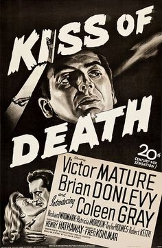 Kiss of Death 1-sheet. movie poster