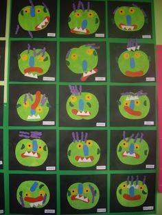 Preschool Literacy, Kindergarten Art, Preschool Art, Big Green Monster, Billy Goats Gruff, October Crafts, Album Jeunesse, Home Daycare, Book Letters