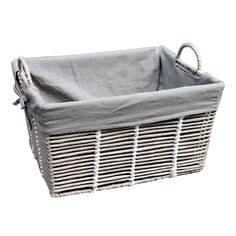Purity Grey Basket with Handles | Dunelm