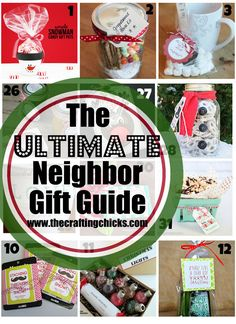 ULTIMATE Neighbor Gift Guide - Over 50 great ideas for neighbor and friend gifts this Christmas! Love this list!The ULTIMATE Neighbor Gift Guide - Over 50 great ideas for neighbor and friend gifts this Christmas! Love this list! Neighbor Christmas Gifts, Handmade Christmas Gifts, Neighbor Gifts, All Things Christmas, Holiday Fun, Holiday Gifts, Christmas Holidays, Christmas Crafts, Christmas Ideas