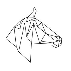 geometric geometrique horse cheval head tete
