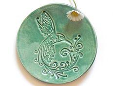 Ceramic Dish Bird Mint Plate Hummingbird Ring Holder Home Decoration Pottery