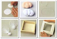 Como hacer cuadrito infantil decorado con hada de tela