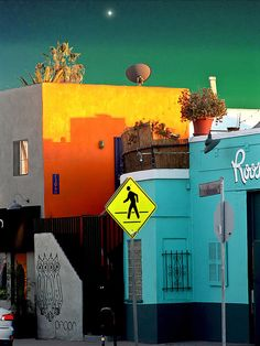 A sunset shot of the famous boho arts neighborhood of Abbot Kinney Blvd., Venice, CA.