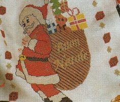 Professione Donna: Schemi a punto croce: Babbo Natale con cesta