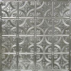 American Tin Ceilings 24 x 24 Metal Backsplash Panel Kit in Brushed Satin Nickel Vinyl Tile Backsplash, Backsplash Panels, Herringbone Backsplash, Backsplash Ideas, Hexagon Backsplash, Black Backsplash, Travertine Backsplash, Vinyl Wall Panels, Metal Wall Panel