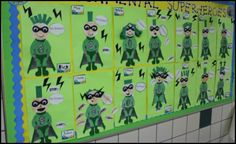 Having students design Environmental Superheroes is a fun project for Earth Day. Students would enjoy completing this activity and their finished Superhero projects will help you to design an eye-catching bulletin board display with a green theme. Preschool Bulletin Boards, Preschool Classroom, Art Classroom, Classroom Themes, School Holiday Activities, Earth Day Activities, Earth Day Projects, Fun Projects, Superhero Classroom Theme