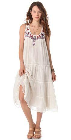 Mes Demoiselles Jess Long Embroidered Dress | SHOPBOP