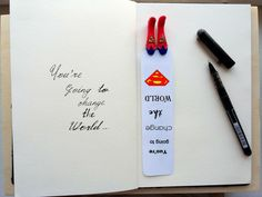 Superman bookmark, Logo superman bookmark, book club gift, gift for him superman bookmark, teacher gift superman book mark, superman, books - you can bee Superman too! This is your bookmarks, book marks. Lovely little legs sticking out of your book, it looks nice and original. With Superman bookmark - you can fly! Item description: - Bookmark completely handmade. - legs are made of polymer clay, painted with acrylic paints and covered with, protective lacquer! - Bookmark size 4 cm width and…