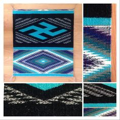 Whirling log textile by Melissa Cody
