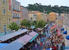 Find information about the Marche aux Fleurs and more found at the Cours Saleya outdoor market in the south of France. Nice France, South Of France, Cours Saleya Nice, French Trip, French Riviera, Provence, Around The Worlds, Street View, Europe
