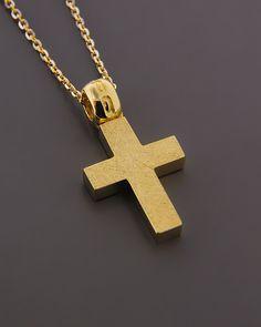 Σταυρός χρυσός Κ14 | eleftheriouonline.gr Symbols, Glyphs, Icons