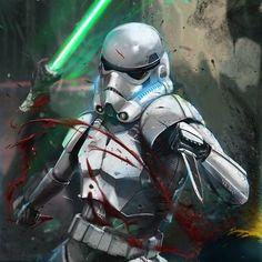 Jedi: 0 - Stormtrooper: 1 Shanktrooper by Joseph Canedo Jr.