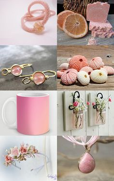 ♥Pink Grapefruit♥ by Andrea Dawn on Etsy--Pinned with TreasuryPin.com Pink Grapefruit, You Are Awesome, Collages, Pretty In Pink, Dawn, Lavender, Cute Animals, Colors, Gifts