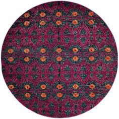 """Bungalow Rose Lafayette Pink Area Rug Rug Size: Round 6'7"""""""