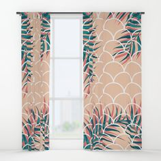 Check out society6curated.com for more! I am a part of the society6 curators program and each purchase through these links will help out myself and other artists. Thanks for looking! @society6 #society6 #floral #flowers #floralpattern #botanical #beautiful #pretty #nature #homesweethome #homedecor #apartment #dorm #apartmentgoals #windows #windowcurtains #curtains #buy #shop #buyart #artforsale #decorate #decor #decoration #sunny #cool #coral #pink #orange #palm #tropical #palmleaves #leaves…