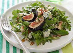 Arugula Fig Bleu Cheese Salad