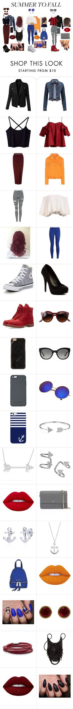 """""""Summer to fall BFF'S!!"""" by jedezepo on Polyvore featuring LE3NO, maurices, Anna October, Miss Selfridge, Acne Studios, Topshop, NIKE, Converse, Michael Antonio and Timberland"""