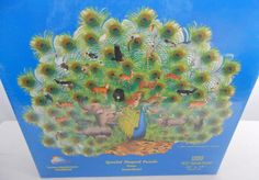 Sunset Blue Peacock Puzzle Special Shaped 1000 Piece Factory Sealed #SunsOut