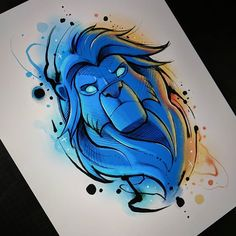 New Ideas For Disney Art Drawings Sketches Artworks Cute Disney Drawings, Cool Art Drawings, Art Drawings Sketches, Cartoon Drawings, Lion Cartoon Drawing, Drawing Ideas, Disney Kunst, Arte Disney, Disney Art