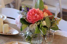 A jar of pretty summer florals