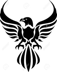 Black Eagles Isolated On White Background Royalty Free Cliparts ...