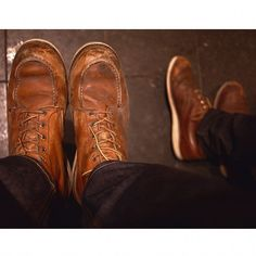 We can help you start a long and trusting relationship with a pair of boots. Shown are some well used Red Wing Heritage 875's (left) and 9111's.  norwoodshop.ca/store/