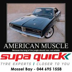 American muscle: Because the king of the jungle should roar, not whistle. #supaquick #musclecar
