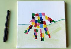 Elmer en empreinte | Jouonsensemble.fr Damier, Stickers, Autumn, How To Make, Kids, Caps Hats, Elmer The Elephants, Ink, Toile