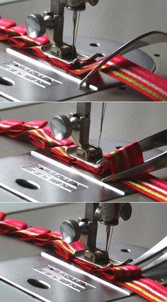 Gabelfalten - pleats with a fork