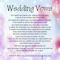 wedding vows to husband cry - wedding vows to husband cry . wedding vows to husband cry marriage . wedding vows to husband cry funny . wedding vows to husband cry tagalog Cute Wedding Ideas, Trendy Wedding, Our Wedding, Dream Wedding, Wedding Stuff, Wedding Renewal Vows, Wedding Ceremony, Wedding Inspiration, Wedding Things