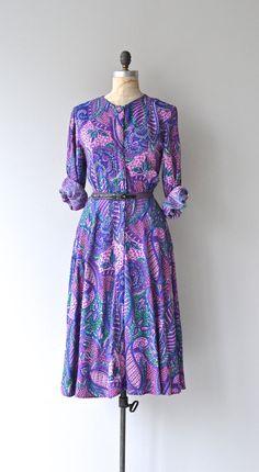 Adini dress vintage 1970s dress Indian print dress by DearGolden