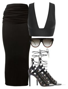 """""""untitled"""" by sphynxxx ❤ liked on Polyvore featuring Givenchy, CÉLINE and Aquazzura"""
