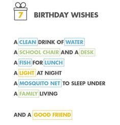 7 birthday wishes
