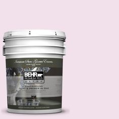 BEHR Premium Plus Ultra 5-gal. #100A-2 Be Mine Semi-Gloss Enamel Interior Paint-375005 - The Home Depot
