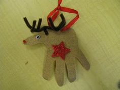 "Classroom DIY: DIY ""Hand""some Reindeer Ornaments"