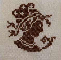 Grecian Lady cross stitch freebie from Steekjes and Kruisjes Free Cross Stitch Charts, Cross Stitch Freebies, Cross Stitch Patterns, Sewing Art, Filet Crochet, Cross Stitching, Needlework, Free Pattern, Cherubs