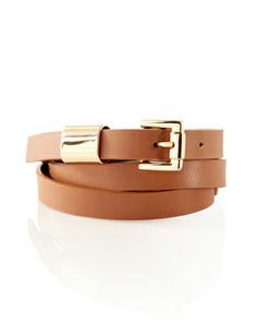 Metal Accent Skinny Belt from THELIMITED.com #TheLimited