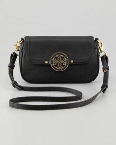 Tory Burch Amanda Mini Messenger Bag, Black - Neiman Marcus