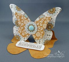 addINKtive designs: Larger Butterfly Easel Card Tutorial