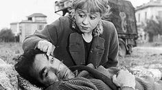 Anthony Quinn and Giulietta Masina in La Strada (one of my top 10 movies) Saint Yves, Great Films, Good Movies, Lion Of The Desert, Fellini Films, Movie Stars, Movie Tv, Zorba The Greek, Lawrence Of Arabia
