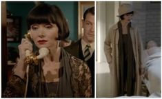 JDS - Phryne's olive pantsuit and beaded jacket in S3 EP4