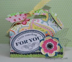 Gable Box created with #ctmh #chantilly. For a Friend & Hello Blooms Stamps. Textiles  www.fancymelissa.com