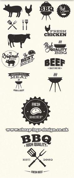 Logo Restaurant, Restaurant Design, Menu Design, Logo Design, Carnicerias Ideas, Grill Logo, Bbq Menu, Meat Shop, Beef