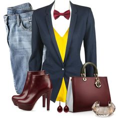 Blazer & Jeans, created by quirkyoak on Polyvore