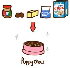 ddlgdoodles:  xhallows:  bdsmgeek:  ddlgdoodles:  A great treat for pet players, especially puppies, is puppy chow. It's fun to make and tastes yummy. You will need: 1/2 cup of peanut butter 1 tablespoon of butter 1 cup of semisweet chocolate chips 1 1/2 cups of powdered sugar 9 cups of rice chex cereal A paper bag Melt your butter, chocolate, and peanut butter in a double boiler. You can also add a hint of vanilla if you'd like.If you don't have a proper double boiler, take a pot and fill…