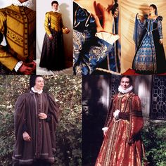 Elizabethan Era Raiment-EXCERPT: 'Clothing embellished with brocades such as heavy cut velvets, lace or gold and silver embroidery was the characteristic of the noble class. Cords and ribbons were used to tie the clothing besides the common use of buttons. Gold and silver buttons, which were set with gemstones at times, were the common elements found in Elizabethan Era outfits.'