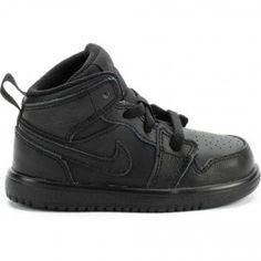480a1eee591 Air Jordan 1 Mid Infant Toddler Lifestyle Shoe (Black Black)