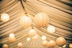 Lighting the wedding marquee