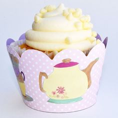 Amazon.com: Vintage Tea Party Supplies, Lavender, Pink Cupcake Wrapper Decorations, Confetti Couture, 36 Wraps: Kitchen & Dining
